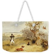 Pheasant Shooting Weekender Tote Bag