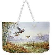 Pheasants In Flight  Weekender Tote Bag
