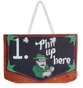 Phil Up Here Weekender Tote Bag