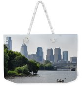 Philadelphia Along The Schuylkill River Weekender Tote Bag