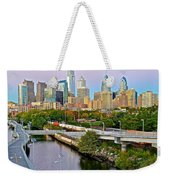 Philadelphia At Dusk Weekender Tote Bag