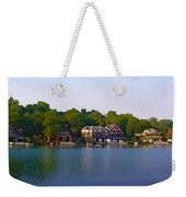 Philadelphia Boat House Row Weekender Tote Bag by Bill Cannon