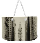 Philadelphia City Hall From South Broad Street Weekender Tote Bag