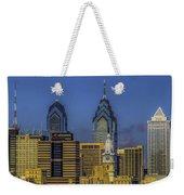 Philadelphia City Hall Skyline Weekender Tote Bag