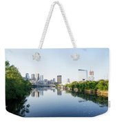 Philadelphia Cityscape Along The Schuylkill River Weekender Tote Bag