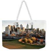 Philadelphia Cityscape From Penn Park In University City Weekender Tote Bag