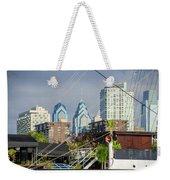 Philadelphia From Penns Landing Weekender Tote Bag