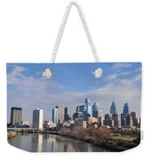 Philadelphia From The South Street Bridge Weekender Tote Bag by Bill Cannon