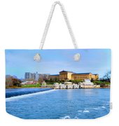 Philadelphia Museum Of Art And The Philadelphia Waterworks Weekender Tote Bag