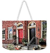 Philadelphia Pa - Townhouse With Red Geraniums Weekender Tote Bag