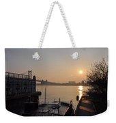 Philadelphia - Penn's Landing Sunrise Weekender Tote Bag