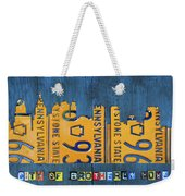 Philadelphia Pennsylvania Skyline License Plate Art Edition 2016 Weekender Tote Bag