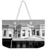 Philadelphia Row Houses - Black And White Weekender Tote Bag