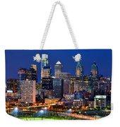 Philadelphia Skyline At Night Weekender Tote Bag