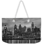 Philadelphia Skyline Bw Weekender Tote Bag