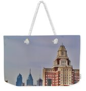 Philadelphia Skyline From Camden Waterfront Weekender Tote Bag