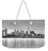 Philadelphia Skyline In Black And White Weekender Tote Bag
