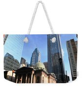 Philadelphia Street Level - Skyscrapers And Classical Building View Weekender Tote Bag