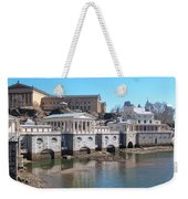 Philadelphia Waterworks And Art Museum Panorama Weekender Tote Bag