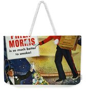 Philip Morris Cigarette Ad Weekender Tote Bag