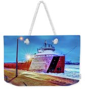 Philip R.clarke West Pier Sault Ste.marie Michigan -3124 Weekender Tote Bag