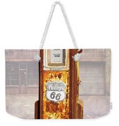 Phillips 66 Antique Gas Pump Weekender Tote Bag