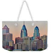 Philly At Sunset Weekender Tote Bag