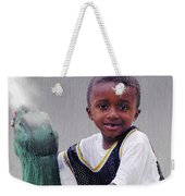 Philly Fountain Kid Weekender Tote Bag by Brian Wallace