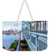 Philly From The Bridge Weekender Tote Bag