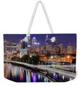 Philly In Panoramic View Weekender Tote Bag