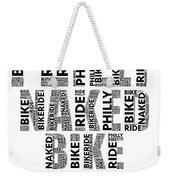 Philly Naked Bike Rider Weekender Tote Bag