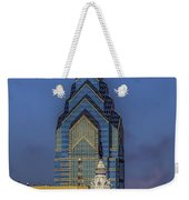 Philly Skyline-old And New Weekender Tote Bag