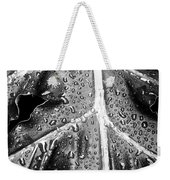 Philodendron Rain - Bw Weekender Tote Bag
