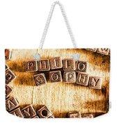 Philosophy Word Art Weekender Tote Bag