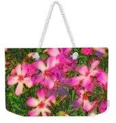 Phlox Fun - Pink Glow Weekender Tote Bag