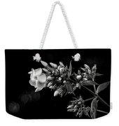 Phlox In Black And White Weekender Tote Bag