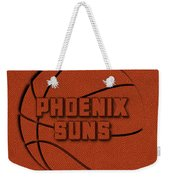 Phoenix Suns Leather Art Weekender Tote Bag