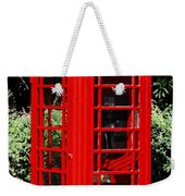 Phone Booth Weekender Tote Bag