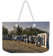 Phone Booth Graveyard Weekender Tote Bag