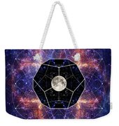 Photo Of The Moon And Sacred Geometry Weekender Tote Bag