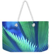 Photograph Of A Royal Palm In Blue Weekender Tote Bag