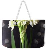 Photograph Of Narcissus Erlicheer A White Flower Weekender Tote Bag