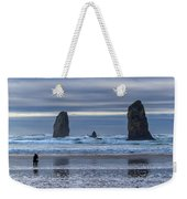 Photographer At Cannon Beach Weekender Tote Bag