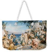 Phryne At The Festival Of Poseidon In Eleusin Weekender Tote Bag