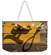 Pi Theta Shadows - Dock Cleat And Rope Weekender Tote Bag