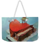 Piano In Red Weekender Tote Bag