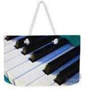 Piano Keys . V2 . Blue Weekender Tote Bag