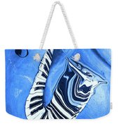 Piano Keys In A Saxophone Blue - Music In Motion Weekender Tote Bag