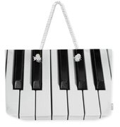 Piano Octave  Bw Weekender Tote Bag