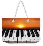 Piano Sunset Weekender Tote Bag
